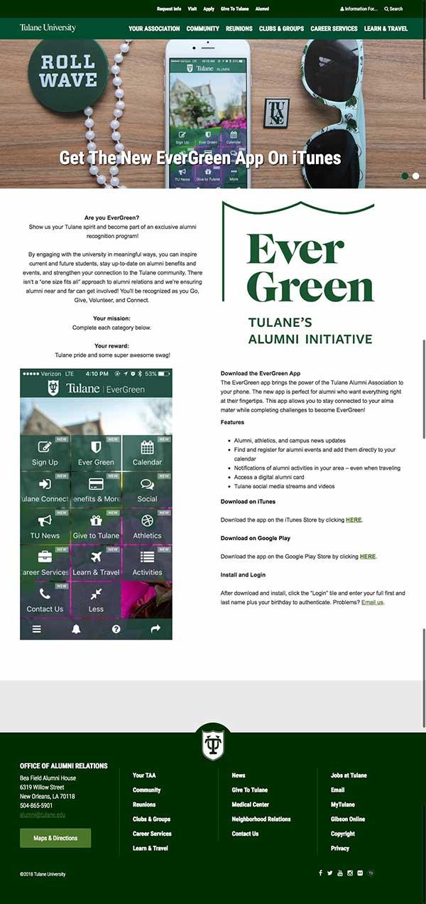 Tulane web page