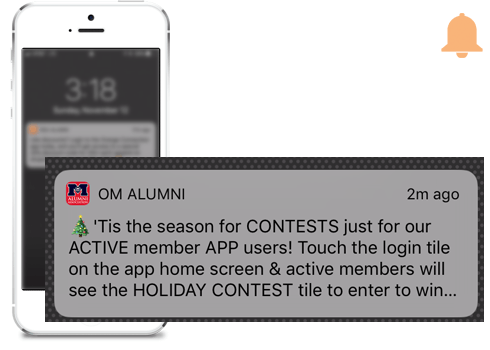 Example of a notification from a MobileUp client